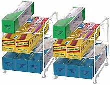 2er Set Küchenschrank Ordnungssystem organizer