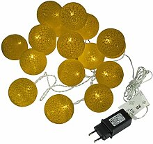 2er Set Kugel-Lichterkette 20 LED warm weiß