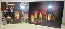 2er Set LED-Bilder Weihnachten