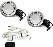 2er Set LED Einbaustrahler Möbelleuchte