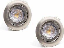 2er SET LED Einbaustrahler Spots Flach schwenkbar