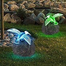 2er Set LED Solar Außen Leuchte Garten