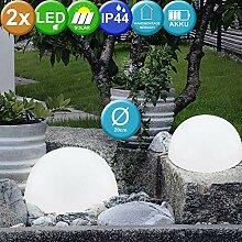 2er Set LED Solar Garten Leuchte Außenbeleuchtung