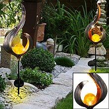 2er Set LED Solar Leuchten Außen Beleuchtungen