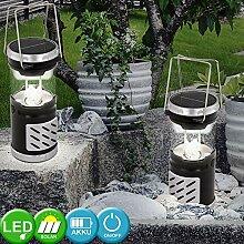 2er Set LED Solar Outdoor Lampe Steh Leuchte