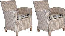 2er Set Loungesessel Carlo Rattan Lounge Sessel
