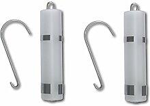 2er Set Luftbefeuchter satiniertes Glas Wasserverdunster für Heizung Heizkörper Verdunster Flachverdunster mit Edelstahl Halterung