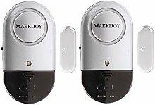 2er Set MAEKIJOY Tür Fenster Alarm Einbruchschutz