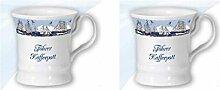 2er Set- Maritim Porzellan- Tasse, Kaffeepott, Becher- Föhrer Kaffeepott -deutsches Produktdesign
