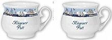 2er Set- Maritim Porzellan- Tasse, Kaffeepott, Becher- Rügener Pott -deutsches Produktdesign