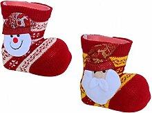 * 2er Set Nikolausstiefel Weihnachtsstiefel mit