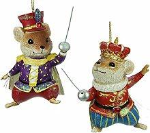 2er Set Nussknacker Mäuse Weihnachtsdekorationen