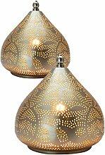 2er Set Orientalische Marokkanische Tischlampe