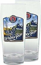 2er Set Paulaner Bierglas - 0,5 Liter Biergläser