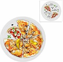 2er Set Pizzateller Margherita groß - 30,5cm