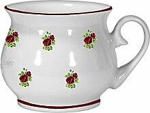 2er Set- Porzellan - Tasse, Kaffeepott, Kugel Becher- Motiv Rosen gestreu