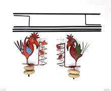 2er Set Regenmesser Gartenstecker Vogel auf Stein