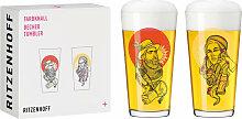 2er Set Ritzenhoff Becher, Biergläser FARBKNALL