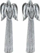 2er Set Schutz Engel Weihnachts Dekoration Krippe