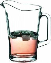 2er Set Schwerer Pitcher Glaskrug 1,8 Liter mit