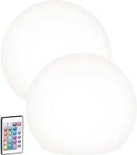 2er-Set Solar-LED-Leuchtkugel mit Fernbedienung,