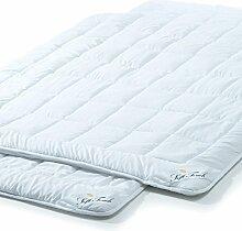 2er Set, Sommer Bettdecke 135x200 cm leichte Steppdecke atmungsaktiv kochfest, Decke für den Sommer aqua-textil Soft Touch 2000036