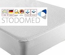 2er Set STODOMED Matratzenauflage Wasserdicht Atmungsaktiv Matratzenschutz Naesseschutz weiche Frotteeoberfläche 100x200 cm Zertifiziert nach ÖkoTex®Standard 100 Doppelpack