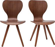 2er-Set Stühle Skandinavien-Stil aus natürlichem