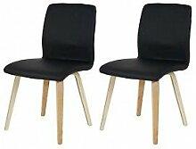 2er Set Stuhl Polsterstuhl Küchenstuhl schwarz Kunstleder Esszimmerstuhl günstig