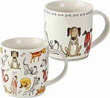 2er Set Tassen Hund Kaffeebecher Kaffeetassen