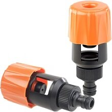 2er-Set Universal-Wasserhahn-Adapter zum Anschluss