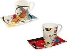 2er Set Wassily Kandinsky Kaffeebecher mit
