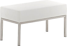 2er Sitzbank Lamega 80x40-weiß