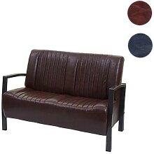 2er Sofa HWC-H10, Couch Zweisitzer, Metall