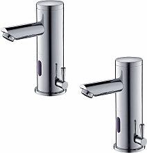 2er Wasserhahn Bad Automatischer Waschbecken-Mixer