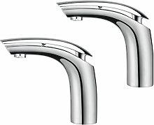2er Wasserhahn Bad Waschtischarmatur