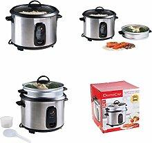 2in1 Dampfgarer und Reiskocher aus Edelstahl 1,8