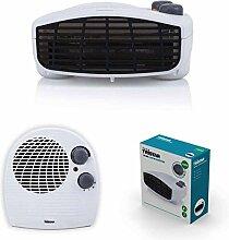 2in1 Heizlüfter und Ventilator mit starken 2000 Watt 3 Stufen (mobile Elektro Heizung, Lüfter, einstellbarer Thermostat, Kontrolllampe, Überhitzungsschutz)