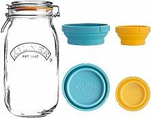 2in1 - Mess- und Vorrats-Glas, 2 Liter,