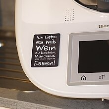 "2in1 Thermomix Deko-Sticker/Aufkleber & Display-Cleaner ""Wein"