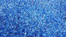 2kg Glas Splitt 5-10mm blau