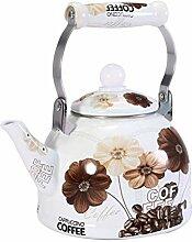 2L Emaille Teekanne Vintage Loose Leaf Tee