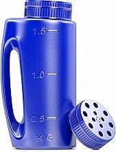 2L-Handstreuer in Blau. Einstellbare Lochgröße