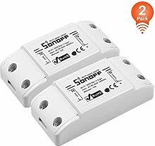 2Pack-SONOFF BASICR2 10A Intelligenter kabelloser