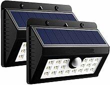 2Pcs 20/45LED Solar Wall Light PIR Motion Sensor