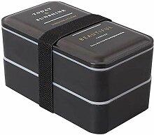 2pcs 2000ml Mikrowelle Lunchbox Tragbare