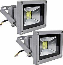 2pcs 20W LED Strahler Fluter,ALPHA DIMA 20W SMD