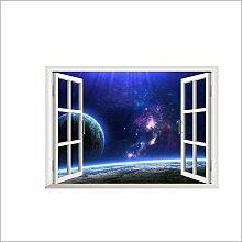 2PCS 3D Fenster Ansicht Wand Aufkleber Wand Dekor Aufkleber Ausgangs Abziehbild Wand Dekor