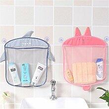 2PCs Bad Mesh Net Storage Bag Organizer Halter für Spielzeug Hautpflege Produkte Bad Ball Shampoo, 2 Saugnapf Cartoon Tier Mesh Korb für Badezimmer Küche - Hanging Mesh Hängematte