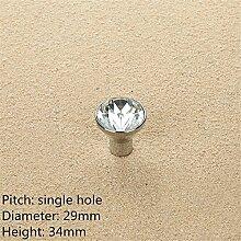 2PCS Diamant-Form-Kristallglas-Kabinett-Knopf-Schrank-Schublade ziehen Handgriff, A17